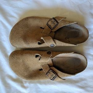 Birkenstock Brown Leather/Suede Clogs